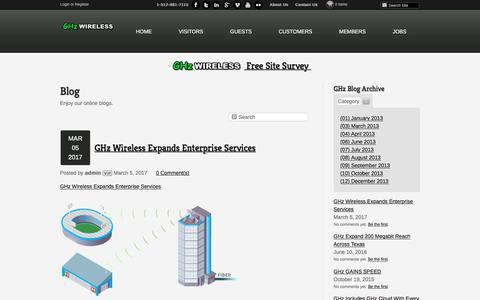 Screenshot of Blog ghzwireless.com - Blog - captured July 15, 2018