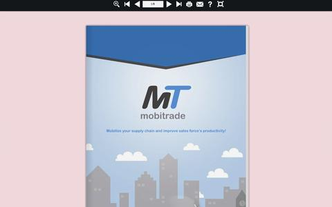 Screenshot of Home Page mobitrade.co.in - MobiTrade - Mobilize your supply chain and improve sales force's productivity. - captured June 21, 2015