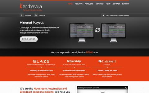 Screenshot of Home Page karthavya.com - Karthavya Technologies - captured Sept. 6, 2015