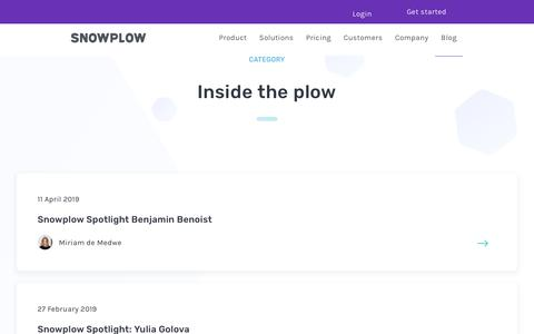 Screenshot of Blog snowplowanalytics.com - Blog – Inside the Plow - page 2 - captured Feb. 10, 2020
