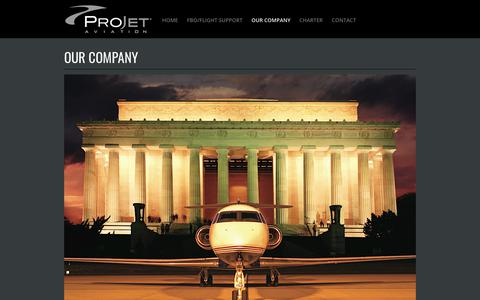 Screenshot of About Page projetaviation.com - ProJet Aviation | Leesburg, VA | Our Company - captured July 22, 2018