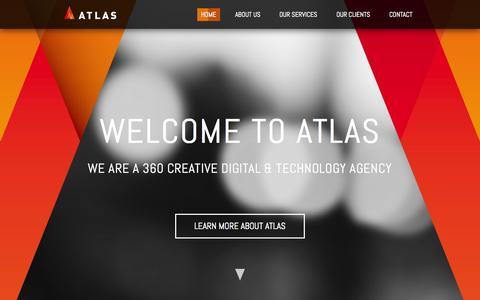 Screenshot of Home Page atlasagency.com.au - Atlas Digital Agency | Digital Advertising Agency Sydney - captured Sept. 22, 2014