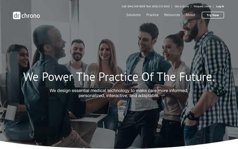 Screenshot of About Page drchrono.com - About Us - EHR, Practice Management, Medical Billing | DrChrono - captured July 13, 2018