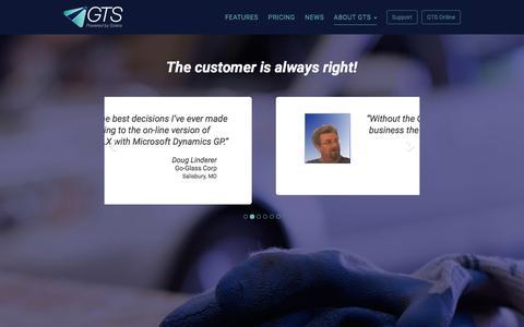 Screenshot of Testimonials Page gtsservices.com - Testimonials - GTS Services - captured Dec. 6, 2015