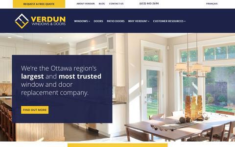 Screenshot of Home Page verdunwindows.com - Verdun Windows and Doors | (613) 443-2694 | Ottawa & Gatineau - captured Sept. 5, 2015