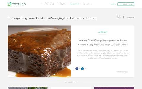 Screenshot of Blog totango.com - Totango | Customer Success Software - captured July 13, 2017