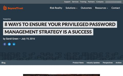 Screenshot of Team Page beyondtrust.com - 8 Ways to Ensure Your Privileged Password Management Strategy is a Success | BeyondTrust - captured Jan. 3, 2020