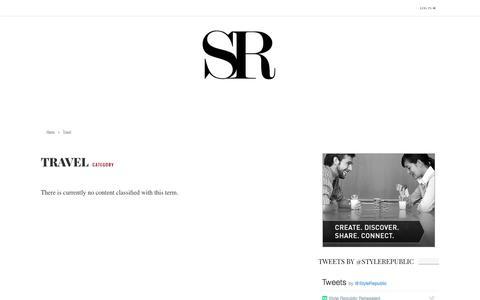 Screenshot of Team Page stylerepublicmagazine.com - Travel | Style Republic Magazine - captured Dec. 5, 2016