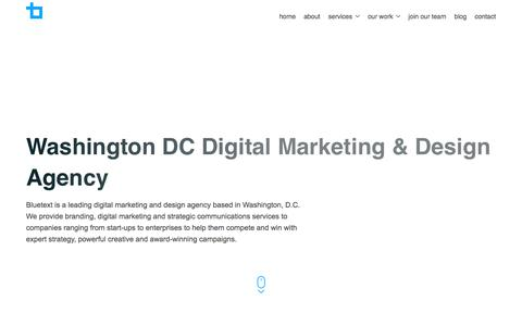 Washington DC Digital Marketing & Design Agency | Bluetext