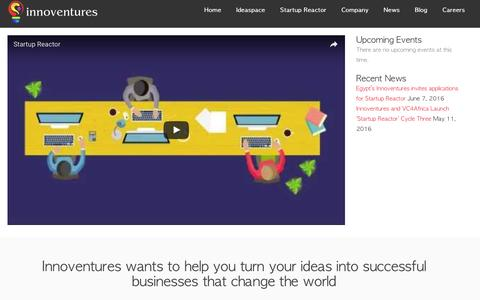 Screenshot of Home Page innoventures.me - Innoventures - Innoventures, LLC - captured Aug. 5, 2016