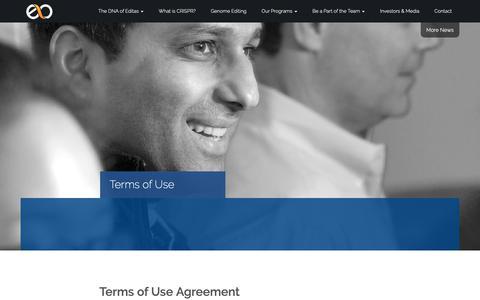 Screenshot of Terms Page editasmedicine.com - » Terms of Use - captured Feb. 13, 2019