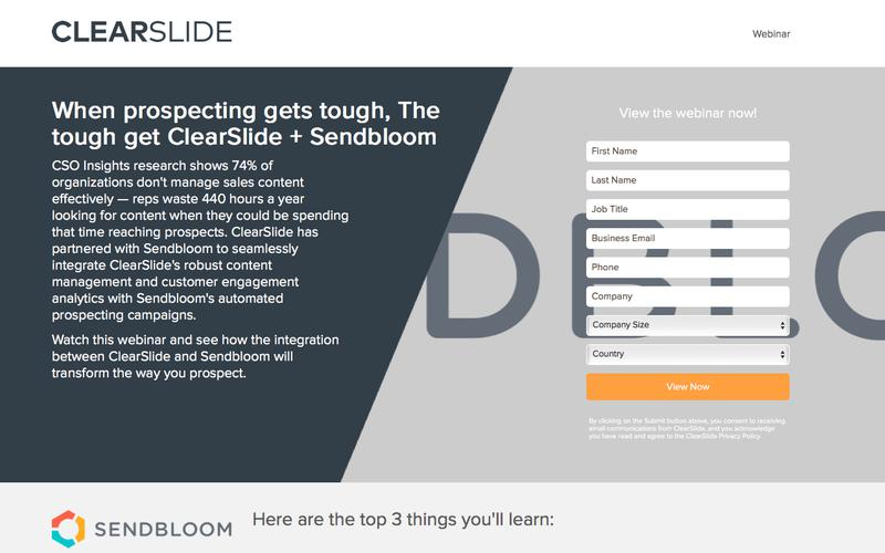 When prospecting gets tough, The tough get ClearSlide + Sendbloom