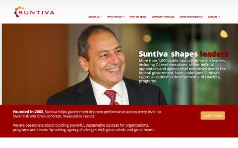 Screenshot of Home Page suntiva.com - Suntiva: Management and Consulting Services | Suntiva - captured Jan. 12, 2016