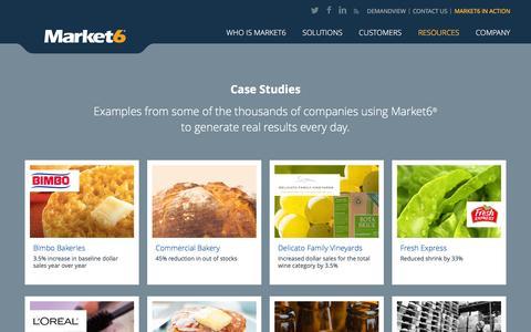 Screenshot of Case Studies Page market6.com - Case Studies | Market6 - captured Feb. 13, 2016