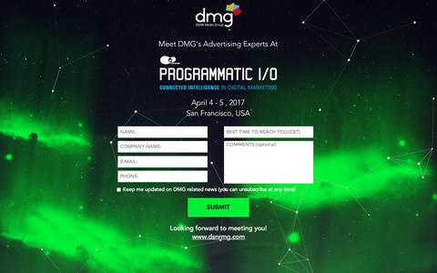 Screenshot of Landing Page traffiliate.com - April 4- 5, 2017 - DMG at Programmatic I/O 2017 - captured April 6, 2017