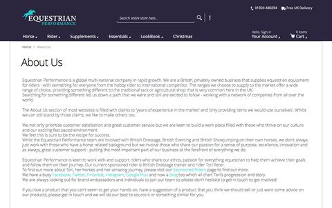Screenshot of About Page equestrianperformance.co.uk - About Us | Equestrian Performance - captured Dec. 5, 2015