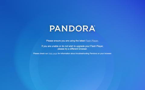 Screenshot of Login Page pandora.com - Pandora Internet Radio - Listen to Free Music You'll Love - captured Dec. 22, 2015