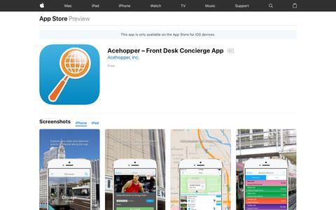 Screenshot of Signup Page apple.com - Acehopper – Front Desk Concierge App on the AppStore - captured Oct. 2, 2018