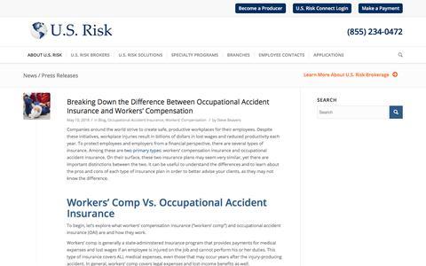 News / Press Releases - U.S. Risk