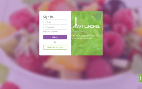 Screenshot of Login Page smartlunches.com - Smart Lunches | Sign in - captured Oct. 28, 2014