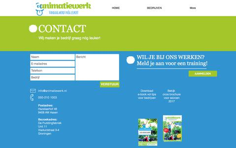 Screenshot of Contact Page animatiewerk.nl - Animatiewerk - Contact - captured Oct. 8, 2017