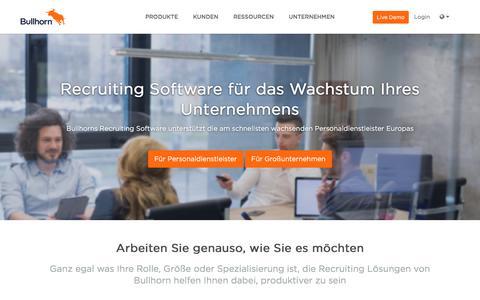 Recruiting Software | Bewerbermanagementsystem | CRM | Bullhorn DE