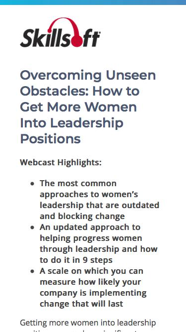 Overcoming Unseen Obstacles: How to Get More Women Into Leadership Positions