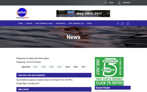 Screenshot of Press Page activetrainingworld.co.uk - Active Training World | Exercise Training Plans | Sports Training and Events - captured May 29, 2017