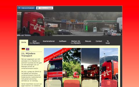 Screenshot of Home Page mijnders-transport.nl - J.L.Mijnders Transport - captured Sept. 29, 2017