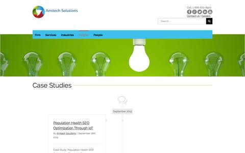 Screenshot of Case Studies Page amitechsolutions.com - Case Studies - Amitech Solutions - captured Jan. 8, 2016