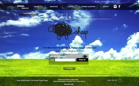 Screenshot of Home Page sheepstudio.co - Sheep.Studio | Handmade Vintage Design Bangkok - captured Oct. 7, 2014