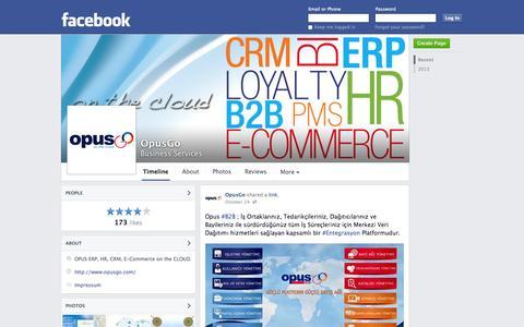 Screenshot of Facebook Page facebook.com - OpusGo - Besiktas, Turkey - Business Services | Facebook - captured Oct. 26, 2014