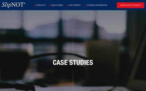 Screenshot of Case Studies Page slipnot.com - Metal Safety Product Case Studies | SlipNOT® - captured Oct. 24, 2017