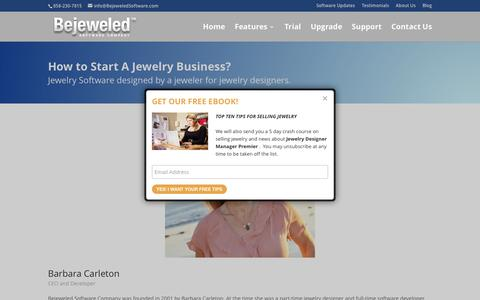 Screenshot of About Page bejeweledsoftware.com - How to Start a Jewelry Business | Jewelry Design Software - captured Feb. 1, 2016