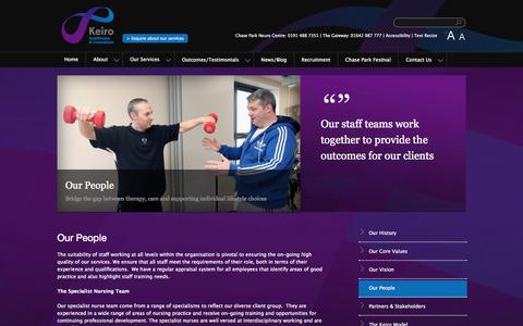 Screenshot of Team Page keirogroup.co.uk - Our People | Keiro - captured Oct. 6, 2014
