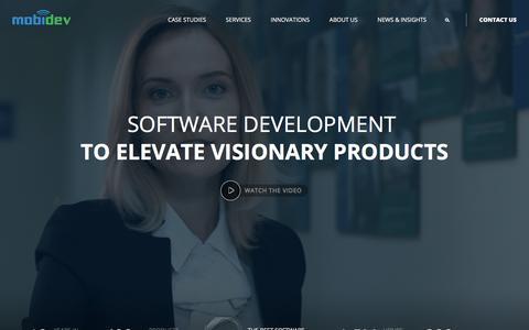 Screenshot of Home Page mobidev.biz - Custom software development company DS ML AR IoT - MobiDev - captured Feb. 22, 2020