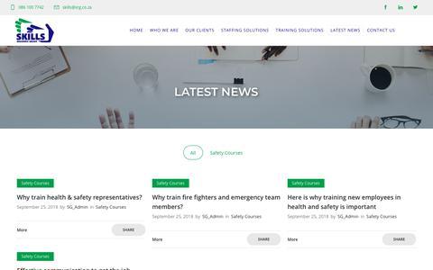 Screenshot of Press Page srg.co.za - Latest News - Skills Resource Group - captured Oct. 1, 2018