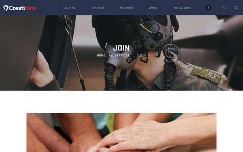 Screenshot of Signup Page creativeterans.com - Join – CreatiVets - captured Sept. 29, 2018