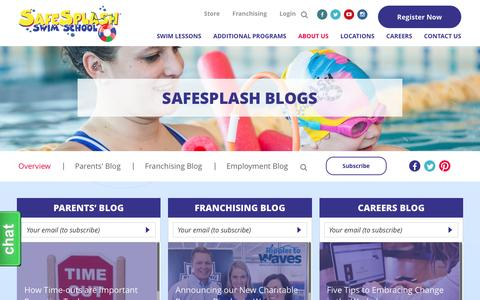 Screenshot of Blog safesplash.com - Blog Overview - captured Nov. 18, 2016