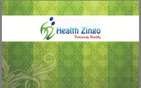 Screenshot of Menu Page healthzingo.com captured Oct. 1, 2014