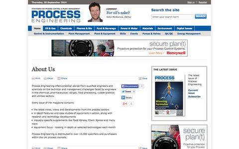 Screenshot of About Page theengineer.co.uk - About Us | Archive | Process Engineering - captured Sept. 23, 2014