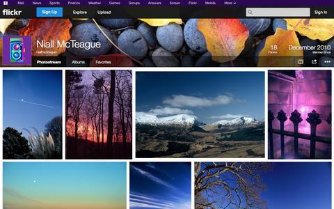 Screenshot of Flickr Page flickr.com - Flickr: niallmcteague's Photostream - captured Oct. 26, 2014