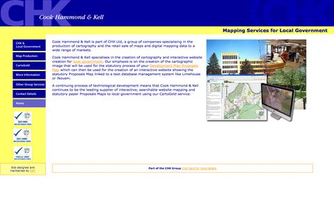 Screenshot of Home Page chk.co.uk - CHK Limited - captured Oct. 2, 2014