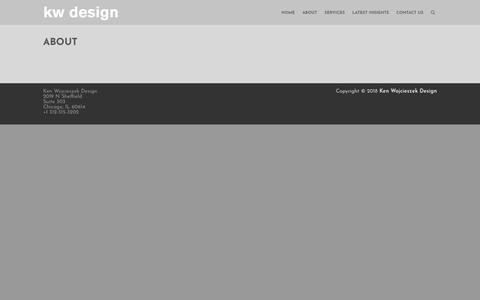 Screenshot of About Page kenwojcieszekdesign.com - About – Ken Wojcieszek Design - captured Sept. 20, 2018