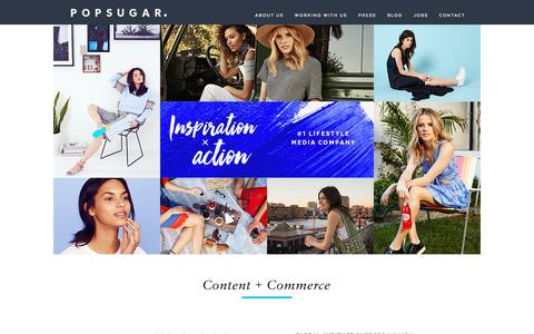 Screenshot of About Page Contact Page popsugar.com - POPSUGAR Inc. - captured March 8, 2017