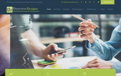 Screenshot of Home Page damonazdesign.com - Naples, FL SEO Company | Naples SEO Company | Web Design - captured Nov. 23, 2016