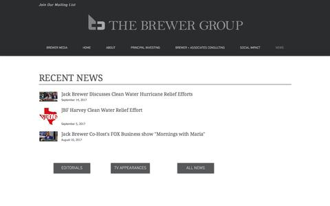 Screenshot of Press Page thebrewergroup.com - The Brewer Group News & Events - captured Oct. 11, 2017