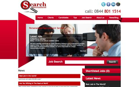 Screenshot of Press Page search-recruit.co.uk - Search Recruitment, Executive Jobs, Resourcing, Call Centre Recruitment, Contact Centre Recruitment, - captured Oct. 6, 2014
