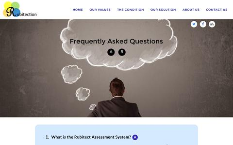 Screenshot of FAQ Page rubitection.com - FAQ - captured Nov. 4, 2014