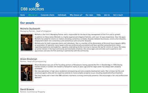 Screenshot of Team Page dbbsolicitors.co.uk - Our people | DBB solicitors - captured Oct. 27, 2014